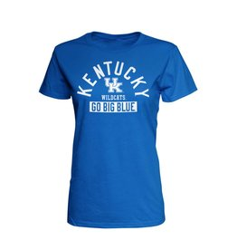 Top of the World TEE, LADIES, SS, GO BIG BLUE, ROYAL, UK
