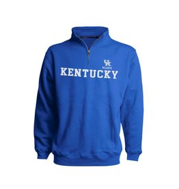 Top of the World PULLOVER, 1/4 ZIP, ROYAL, UK