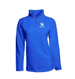 J. America PULLOVER, LADIES, 1/4 ZIP, ROYAL, UK