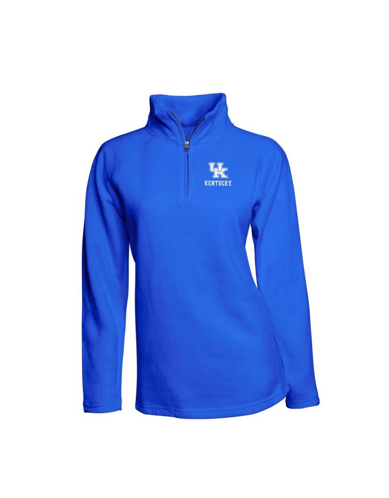 Top of the World PULLOVER, LADIES, 1/4 ZIP, ROYAL, UK