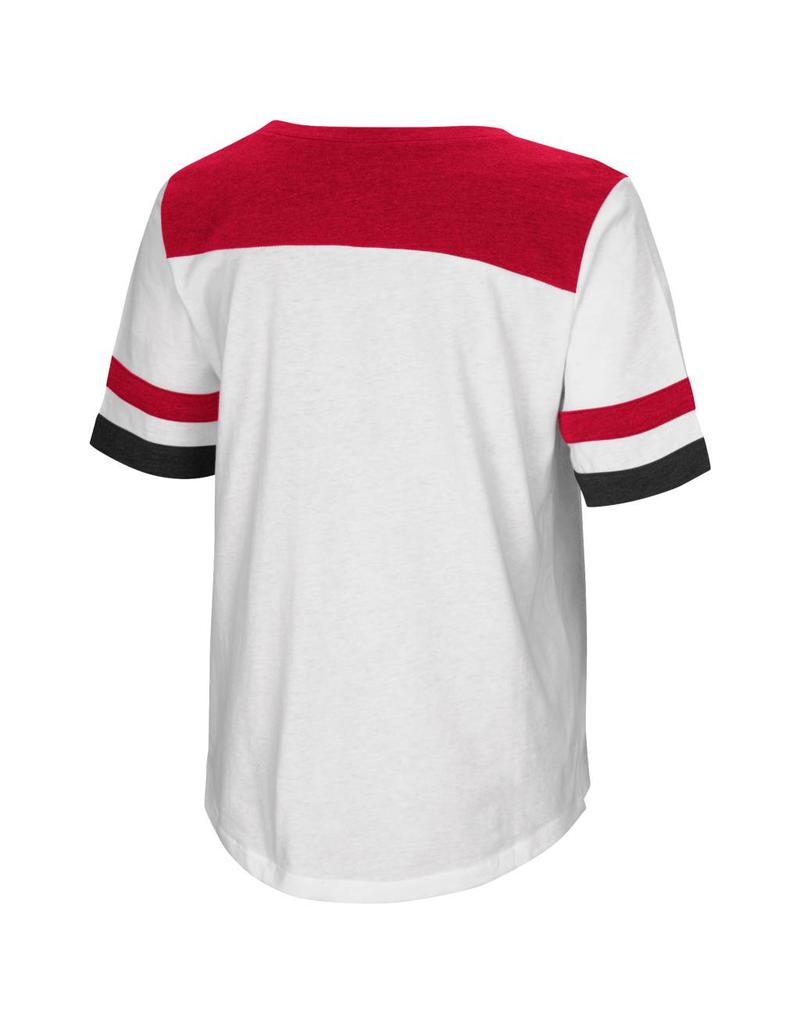 Colosseum Athletics TEE, LADIES, SS, SHOW ME, WHITE/RED, UL