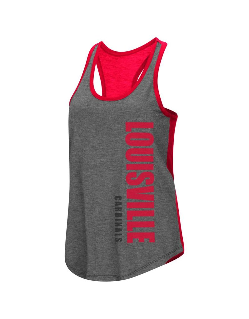 Colosseum Athletics TANK, LADIES, RACERBACK, SHARE IT, CHAR/RED, UL