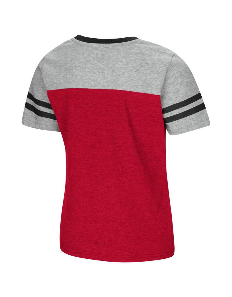 Colosseum Athletics TEE, YOUTH, GIRLS, SS, PEE WEE, RED/GRAY, UL