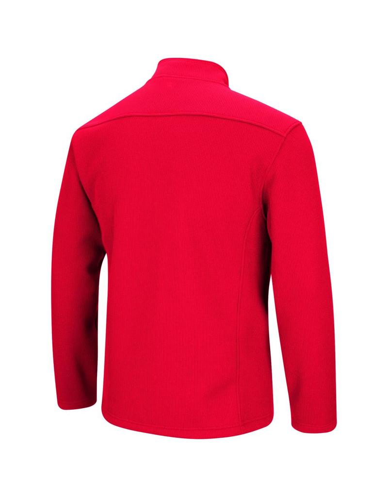 Colosseum Athletics PULLOVER, 1/2 ZIP, TOWNIE, RED, UL