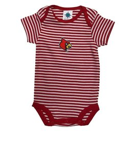 Creative Knitwear ONESIE, INFANT, STRIPED, RED/WHT, UL