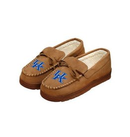 SLIPPERS, MOCCASIN, BROWN, UK