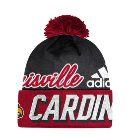 Adidas Sports Licensed KNIT, ADIDAS, CUFFED POM, RED/BLACK, UL