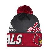 Adidas Sports Licensed KNIT, ADIDAS, CUFFED POM, RED/BLACK, UL