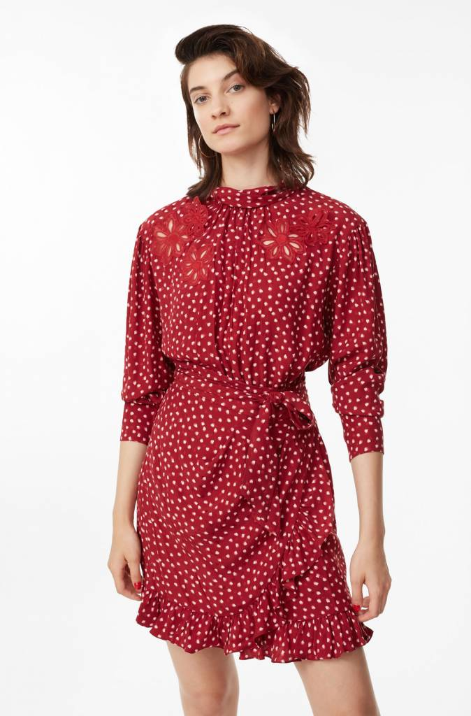 Rebecca Taylor LS 3D Floral Heart Dress