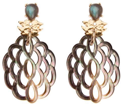 Hazel Smyth Klecks Drop w/ Pearl Earring