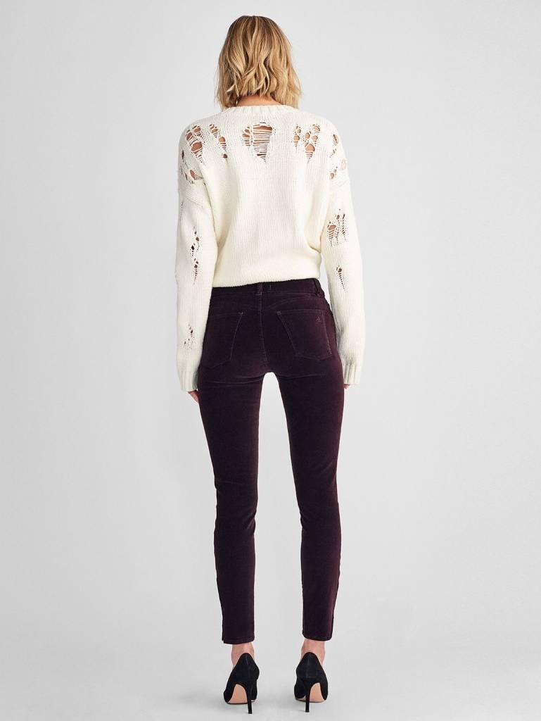 DL1961 Margaux Velvet Mid Rise Ankle Skinny