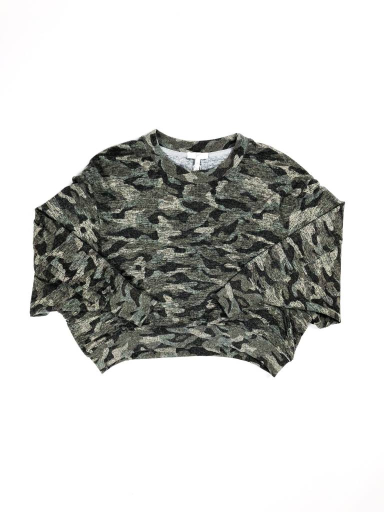 Joie Caleigh Camo Sweatshirt