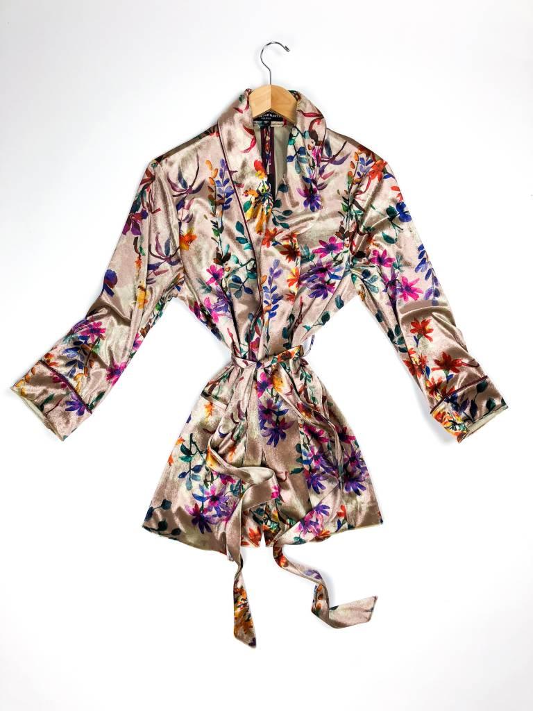 Allen Schwartz Harper Tie Waist Floral Jacket