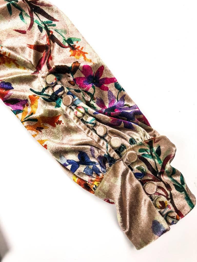 Allen Schwartz Jolie One Shoulder LS Floral Top