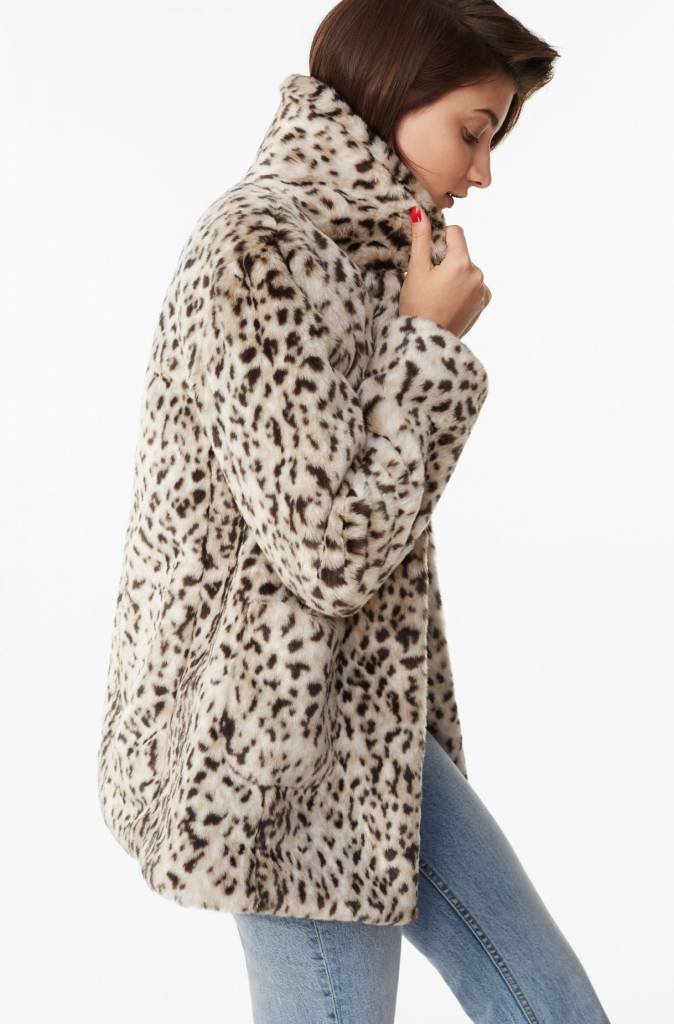 La Vie Rebecca Taylor Lynx Faux Fur Coat