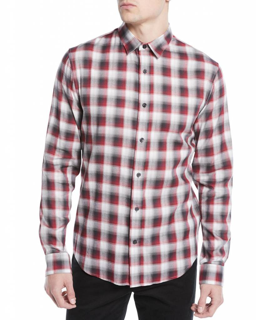 Vince Shadow Plaid LS BD