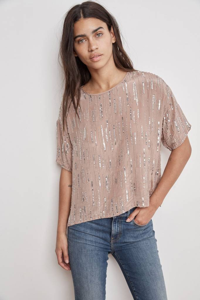 Velvet by Graham & Spencer Brighton Sequin Top