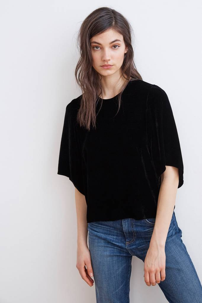 Velvet by Graham & Spencer Andi SS Velvet Top