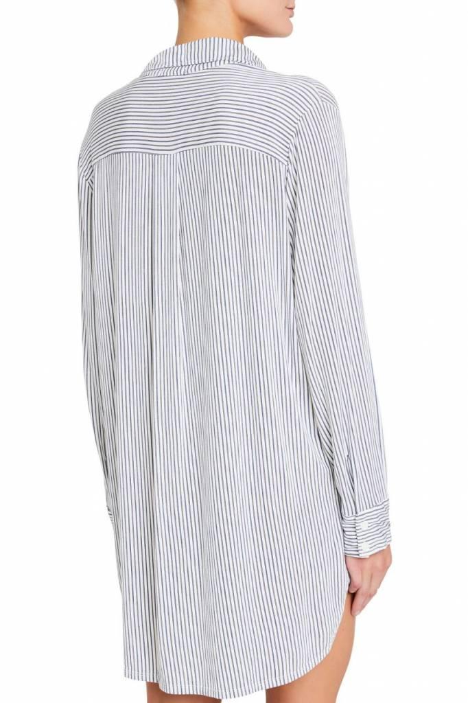 Eberjey Nordic Stripes Boyfriend Sleepshirt