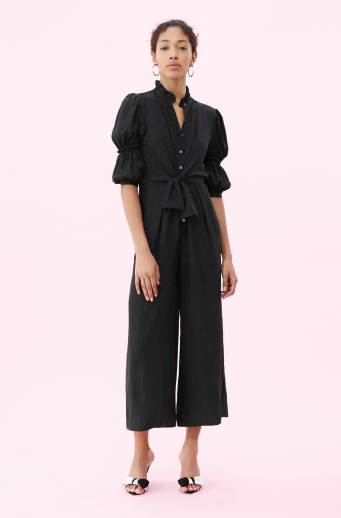 Rebecca Taylor LS Silk Jaquard Jumpsuit