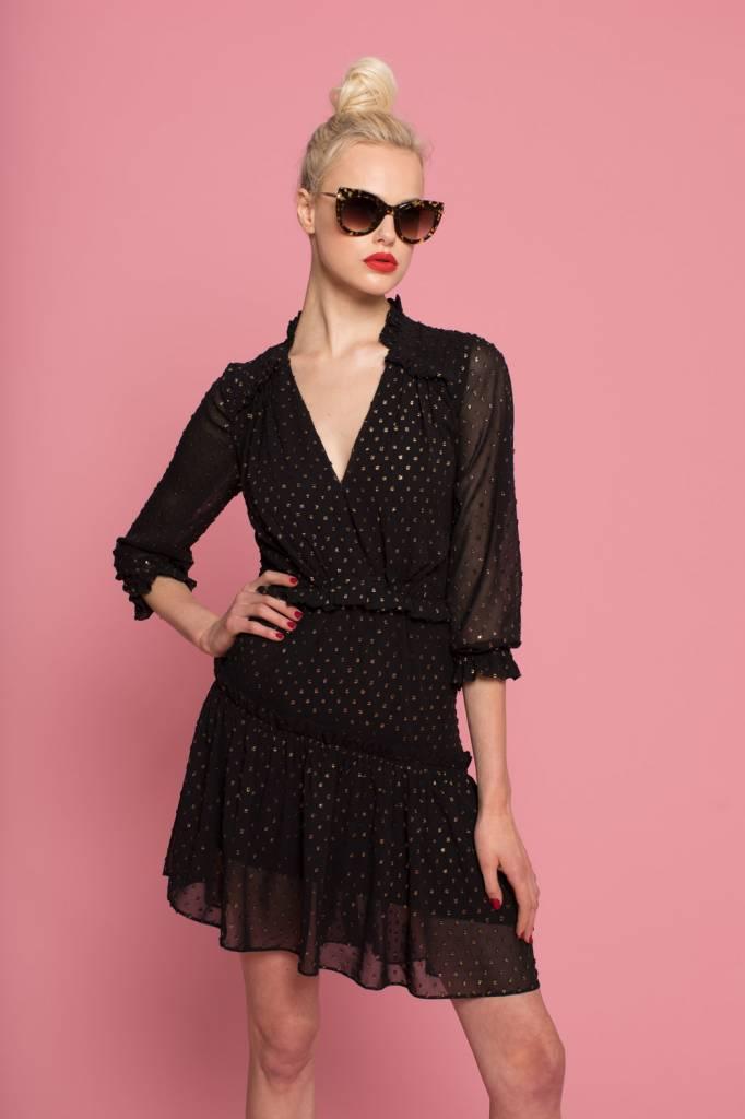 Hunter Bell Amanda 3/4 Sleeve V-Neck Dress