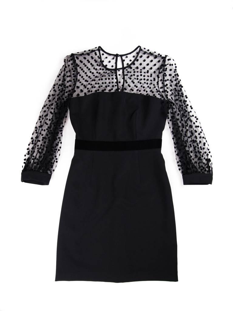 MILLY 3/4 Sheer Sleeve Milan Dress