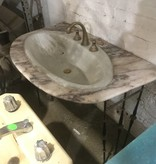 Marble Vanity With Iron Base #ORA