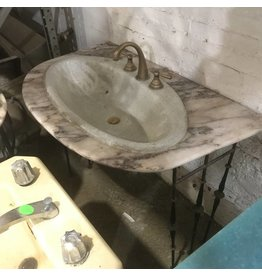 Marble Vanity With Iron Base #ORA
