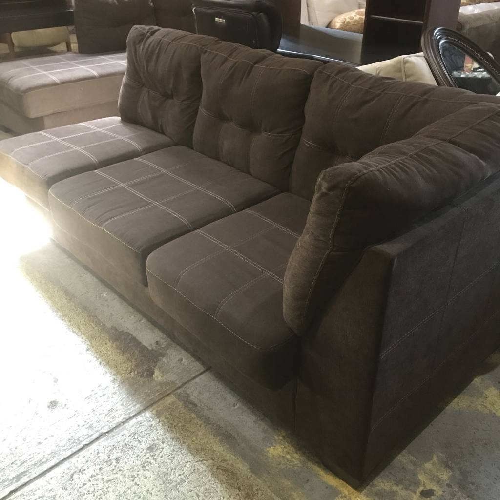 Designer L-Shaped Brown Sofa #ORA
