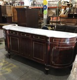 Dark Cherry Dresser With Marble Top #RED