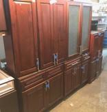 Mocha 8pc Kitchen Cabinet Set #RED