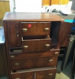 Antique Burl And Walnut Wood Dresser#RED