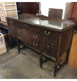 Antique Credenza with Brass Hardware #GRE