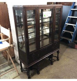 Antique Oak Mirrored Hutch #GRE