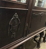 Antique Oak Mirrored Hutch #GRE