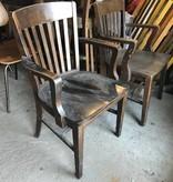 Vintage Oak Courtroom Seats #YEL