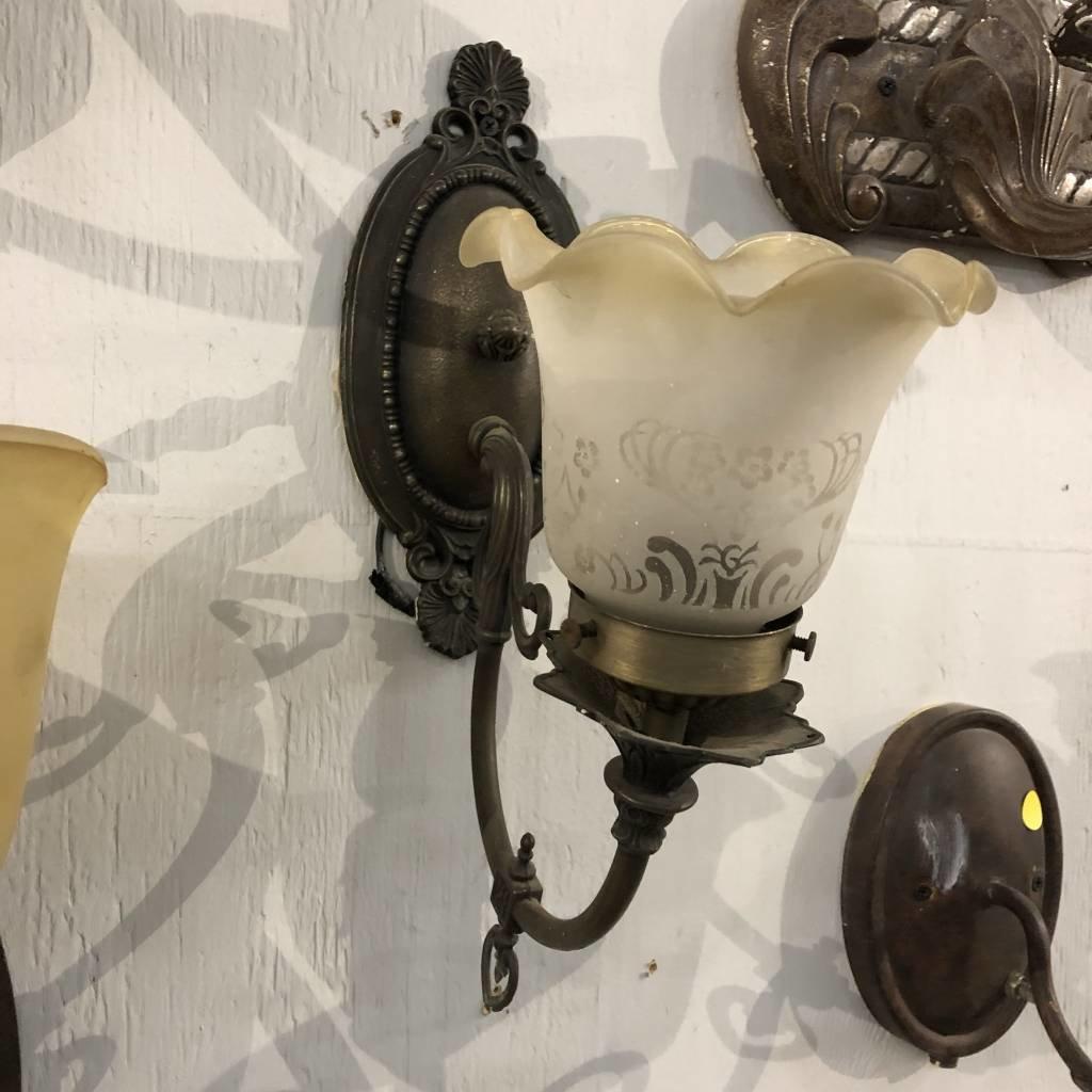 Vintage Brass Sconce #YEL