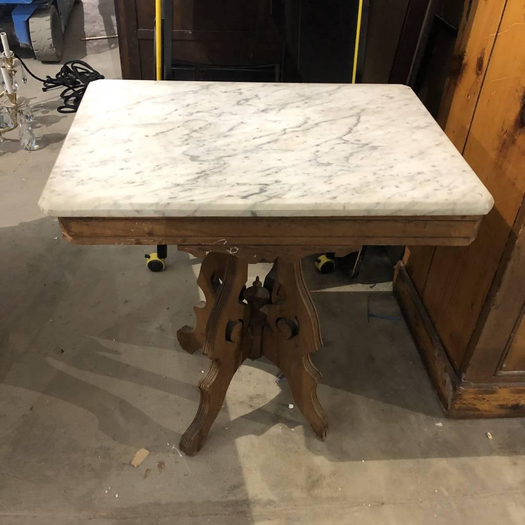 Vintage Marble Top Side Table #BLU