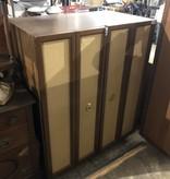Custom Tweed Double Door Armoire #BLU