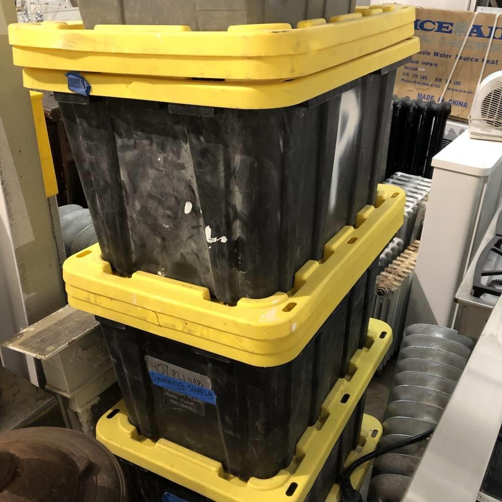 Black And Yellow Storage Bins #BLU
