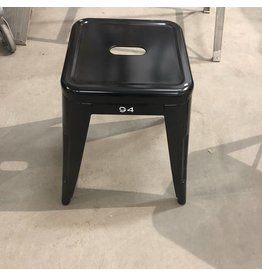 Small Black Metal Stools #BLU