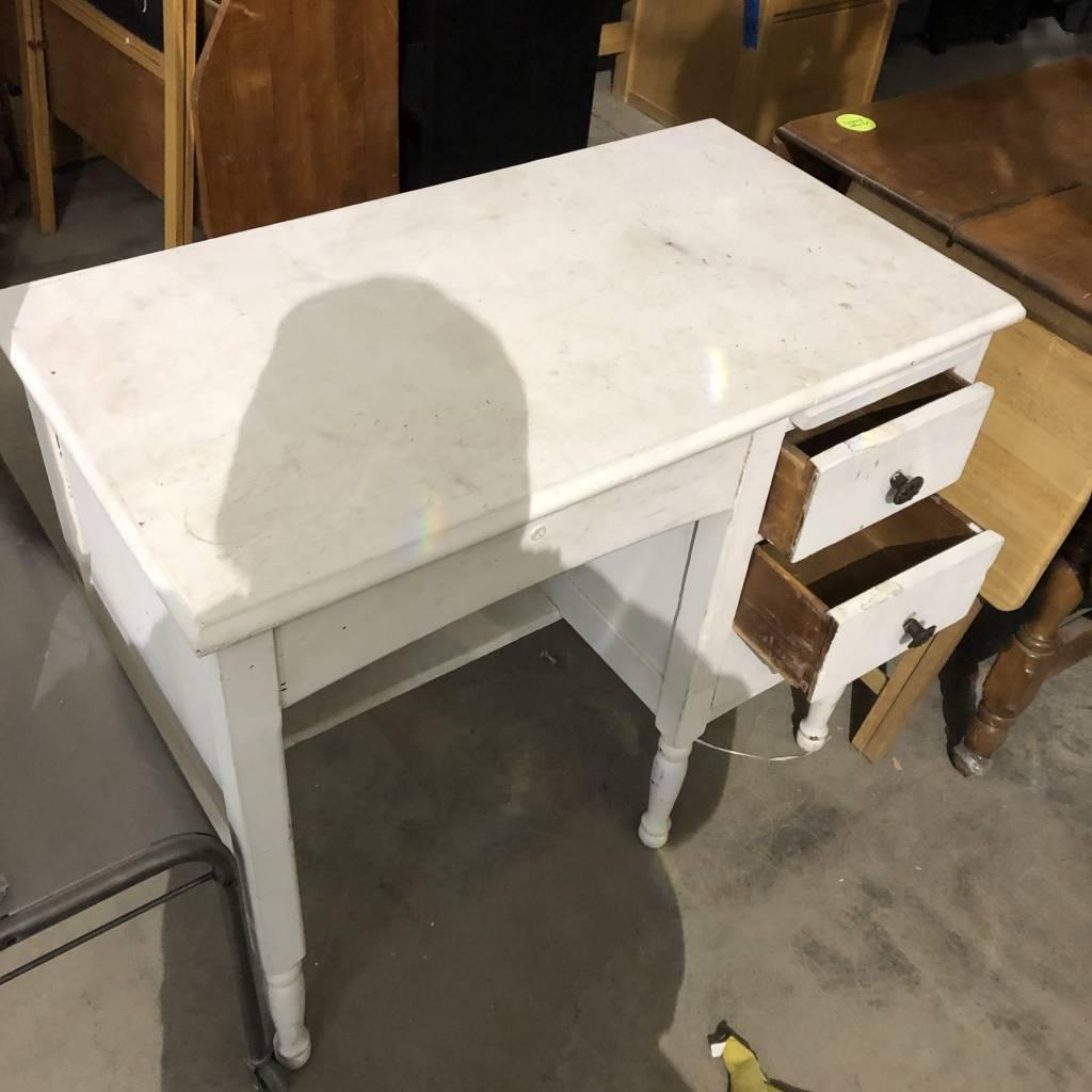 Mini White School Desk #BLU