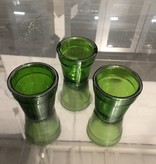 Green Glass Planters