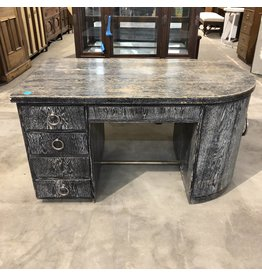 Tombstone Zebra Desk with Liquor Cabinet #BLU