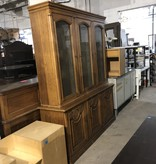 Antique Maple China Cabinet #BLU