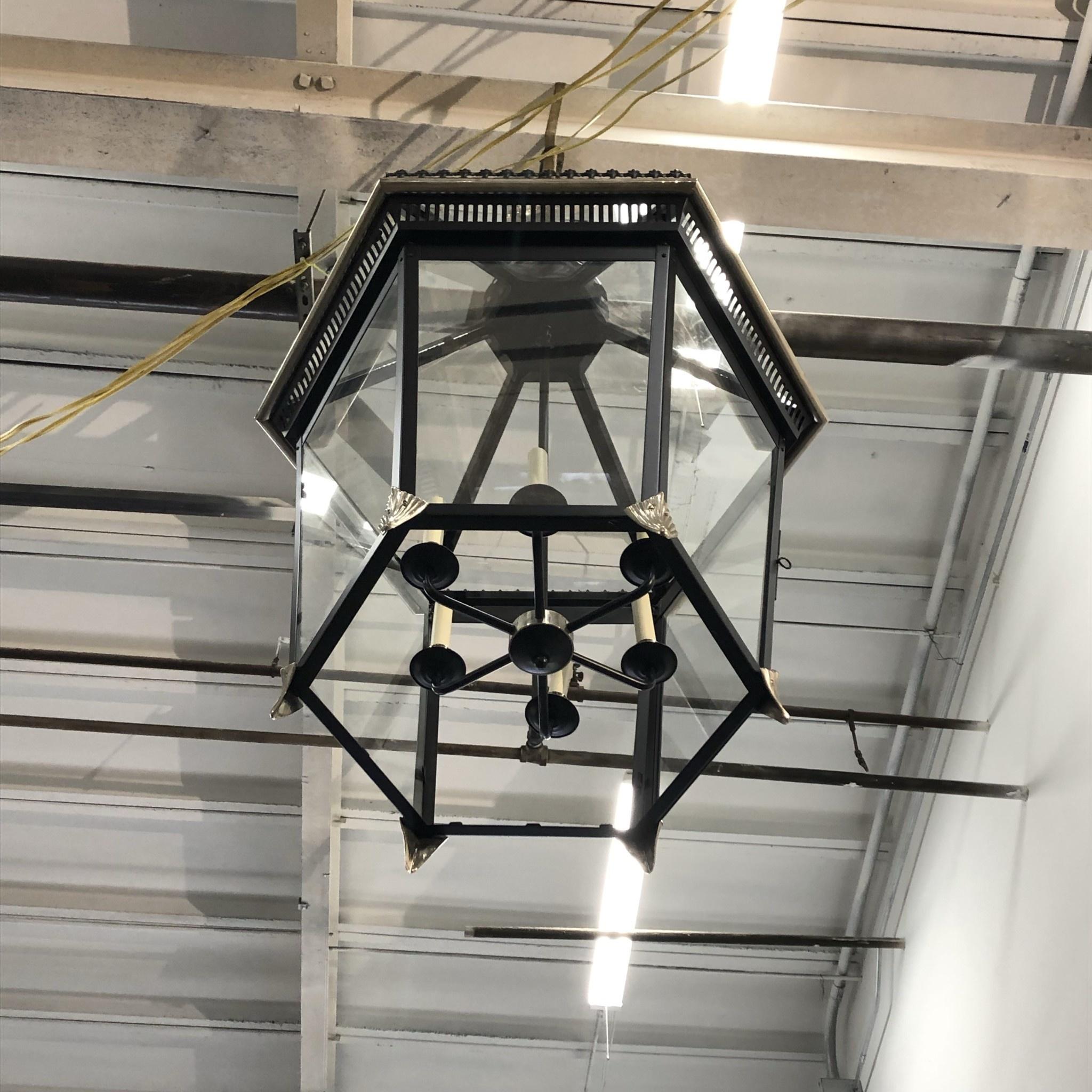 Charles Edwards XL Hexagonal Pineapple Lantern