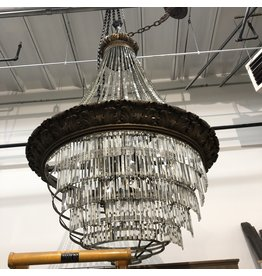 XL Vintage Crystal Chandelier