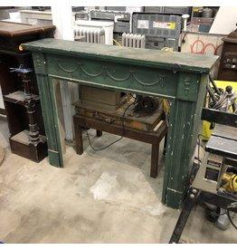 Vintage Green Fireplace Mantel