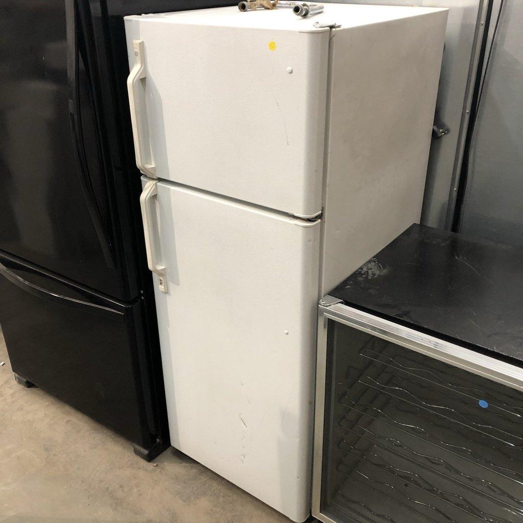 White GE Refrigerator
