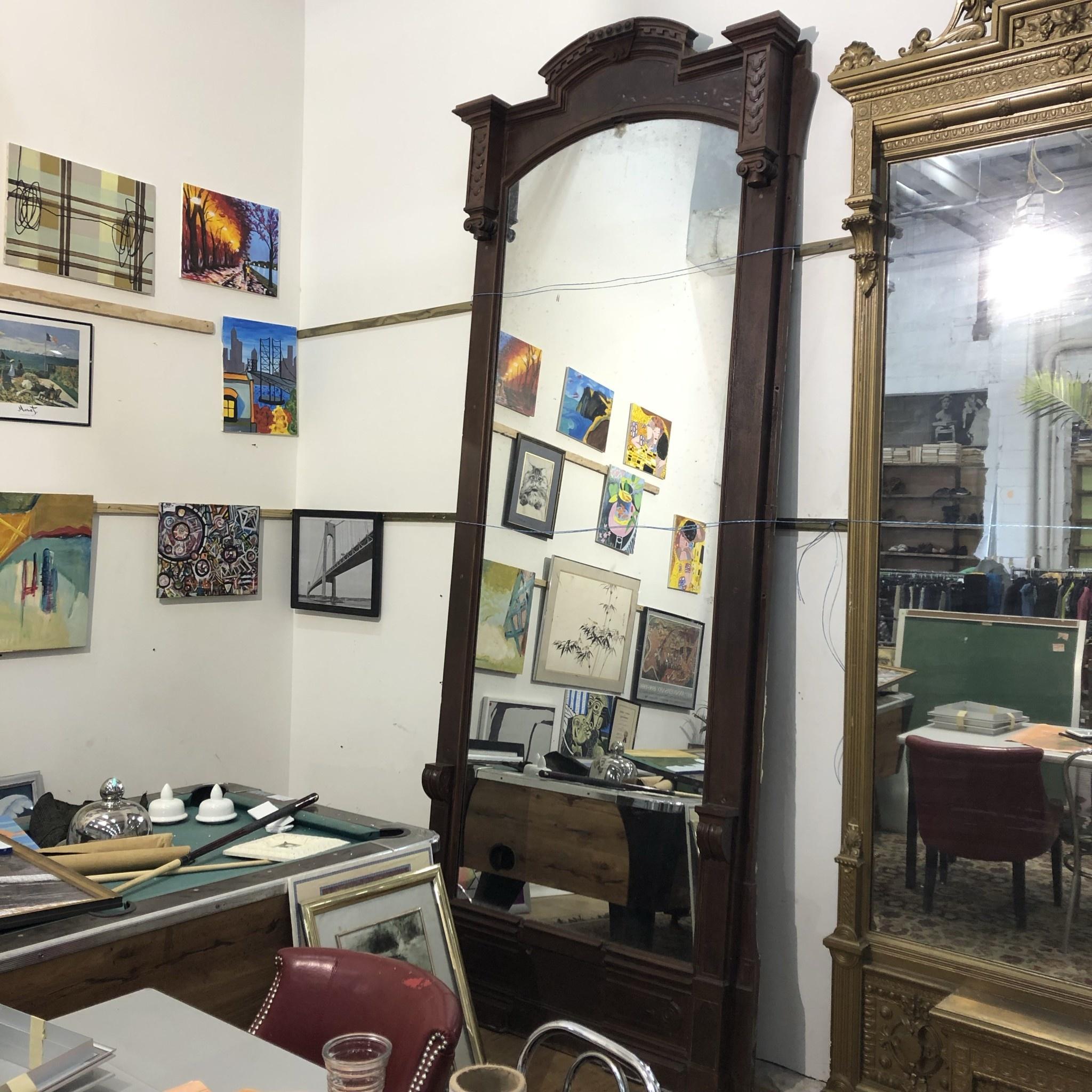 Vintage Mahoganny Mirror Big Reuse